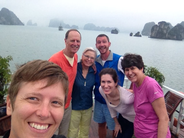 A foggy Halong Bay